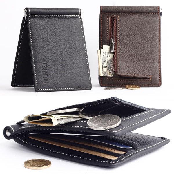 Мужчины из натуральной кожи Бизнес Малый Многофункциональный Деньги мешок держателей карт бумажника