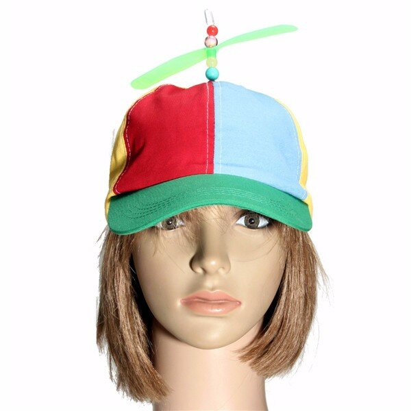Men Women Copter Helicopter Propeller Hat Ball Cap Clown Costume Accessory
