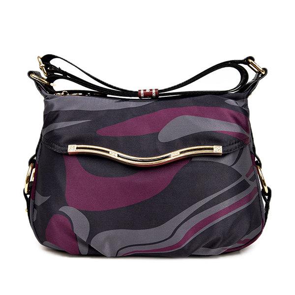 Женщины Повседневная Геометрические фигуры Pattern нейлон сумки плеча Crossbody сумки