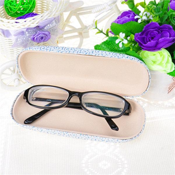 Vintage Hard Sunglass Glasses Box Lace Pattern Reading Glasses Case Color Randomly