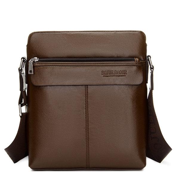 Men Business Vintage Shoulder Bag Outdoor Shopping PU Leather Crossbody Bags