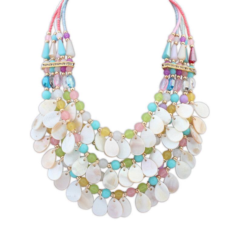 Многослойные Кристалл Teardrop Подвеска себе ожерелье