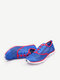 Men Women Lovers Mesh Breathable Color Match Lace Up Flat Sport Casual Shoes