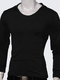 Men's Stylish Casual Slim Fit Solid Color Long-Sleeved Hooded T-Shirt