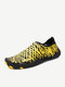Big Size Syripe Swimming Outdoor Pattern Color Match Soft Yoga Sport Shoes