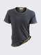 Mens Outdoor Sports Breathable Quick Dry Casual Light Thin Round Neck Short Sleeved T-shirts