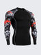 Quick-Dry Breathable Elastic Tight Fitting Bodybuilding Running Long Sleeve T-Shirt For Men
