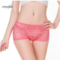 Women Sexy Luxury Lace Floral Mid Waist Boyshorts Transparent Bamboo Fiber Panties Underwear