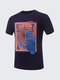Men's Cool Palm Printing T-shirts Short-sleeved O-neck Casual Cotton Top Tee