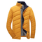 Casual Thicken Warm Waterproof Solid Color Slim Fit Padded Jacket For Men