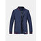 M-6XL Casual Business Thin Loose Solid Color Plus Size Stand Collar Coat For Men