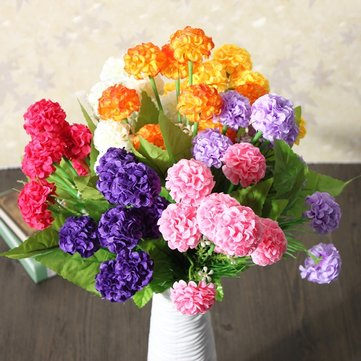 Buy Artificial Daisy Chrysanthemum Silk Flowers Floral Bouquet 8 Heads 7 Colors Home Garden