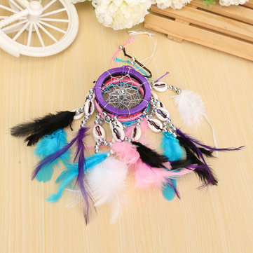 Buy Pure Fantasy Feathers Ring Wind Chime Dream Catcher Campanula Hanging Ornament
