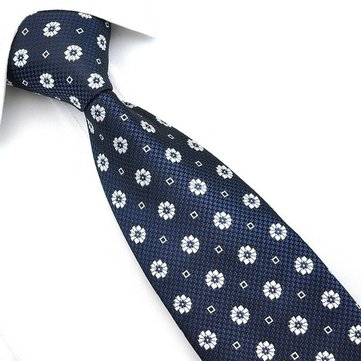 Buy Polyester Men's Jacquard Woven Silk Big Wave Point Ties PenSee Business Necktie