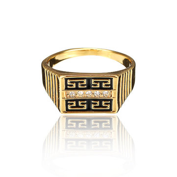 Buy Gold Plated Great Wall Rhinestone Ring
