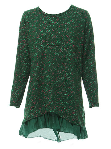 Casual Women Floral Loose Double Layer Long Sleeve Dress от Newchic.com INT