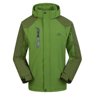 Men's Winter Dacron Polar Fleece Waterproof Windproof Jacket Thick Warm Outdoor Coat от Newchic.com INT