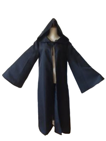 Buy Halloween Party Hooded Long Sleeve Solid Color Cloak