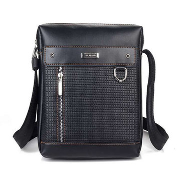 Buy Mens PU Leather Shoulder Bag Business Durable Outdoor Crossbody