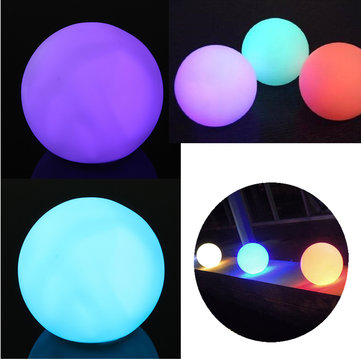 Round Ball Shaped Light 7 Color Changing Night Light Decoration