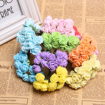 144Pcs Rose Artificial Flowers DIY Home Wedding Party Decoration Bridal Wreath Headdress