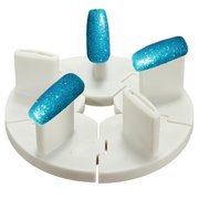 2 Pcs Dismountable Nail Art Tips Practice Stands Display Tools Holder