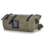 Mans Waist Bag Multifunction Canvas Crossbody Bag Travel Bag Bucket Bag