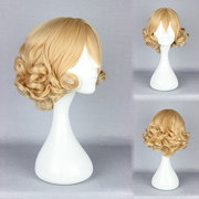 Short Curly Cosplay Costume Wig Synthetic of High-Temperature Resistance Animation Girl Hairstyle
