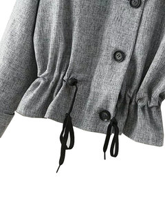 Patchwork Zipper Single Breasted Casual Women Jacket