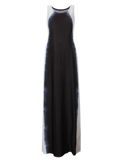 Elegant Gradient Color Sleeveless Long Maxi Dress