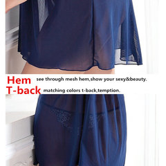 Women Sexy Embroidered See Through Nightdress Lace Backless Babydoll Sleepwear