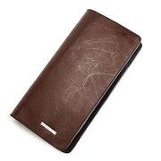 ZEFER Men Casual Genuine Leather Zipper Wallets Cards Coins Bag