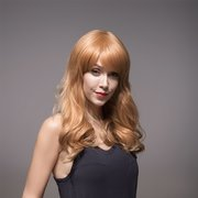 Remy Mono Human Hair Wig Side Bang Long Wavy Curly Virgin Top Capless 8 Colors