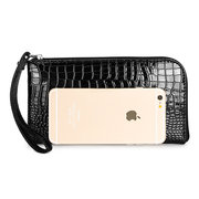 Microfiber Casual Gold Sliver Color Elegant Wallet Women Phone Bags