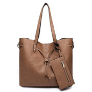 Women Faux Synthetic Leather Tote Satchel Handbag
