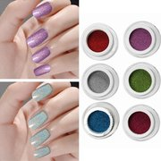 1Pc Holographic Nail Art Laser Powder Glitter Holo DIY Chrome Pigments 6 Colors