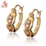 Chic 18K Gold Plated Crystal Earrings