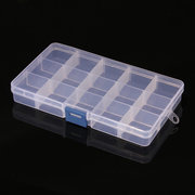 8Pcs 15 Cells Compartments Storage Box Adjustable Detachable Plastic For Nail Tip Gems Little Stuff
