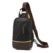 Men Pu Chest Bag Vertical Casual Crossbody Bag Shoulder Bag for Ipad