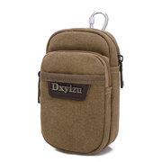Men Outdoor Sport Waist Bag Cellphone Canvas Casual Waist Bag