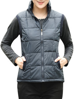 Zipper Casual Plus Size Cotton Stand Collar Vest Padded Coat