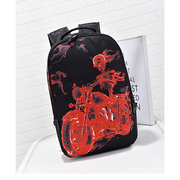 Women Men Stylish Canvas Cool Pattern Large Capacity Backpack School Bags