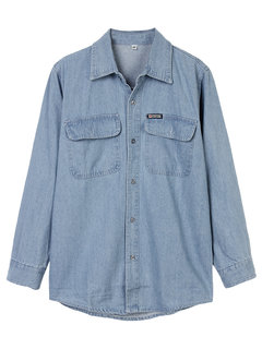 Cowboy Loose Women Pure Color Button Denim Shirt Blouse
