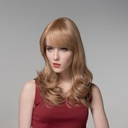Long Curly Wavy Human Hair Wig Capless Virgin Remy Mono Top 8 Colors