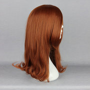 Side Bang Straight Heat-Friendly Synthetic Hair Cosplay Costume Wig Natural Elegant