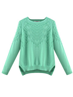 Casual Long Sleeve Solid Bottoming Pullover Sweater