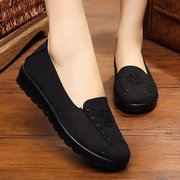 Big Size Hollow Out Flower Stitching Flat Slip On Comfortable Loafers