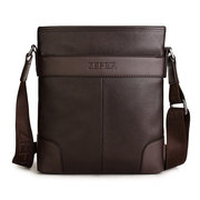 ZEFER Men Business Crossbody Bag Casual Zipper Shoulder Bag