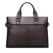 Man Genuine Leather Briefcase Business Bags Computer Bags Leisure Handbags