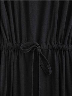 Tie эластичный пояс Pure Color вскользь платье мини